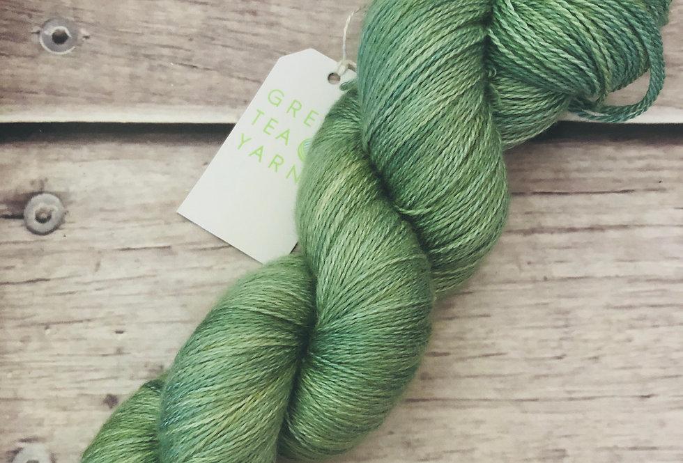 Matcha Green - 2 ply in Silk and Merino - Sencha