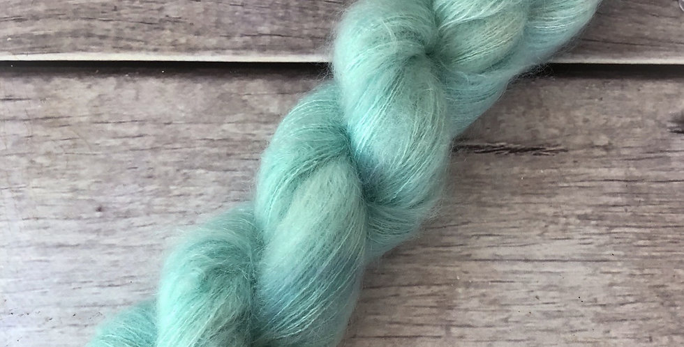 Turquoise Bay on ShuiYun - 2 ply lace in Mohair and silk