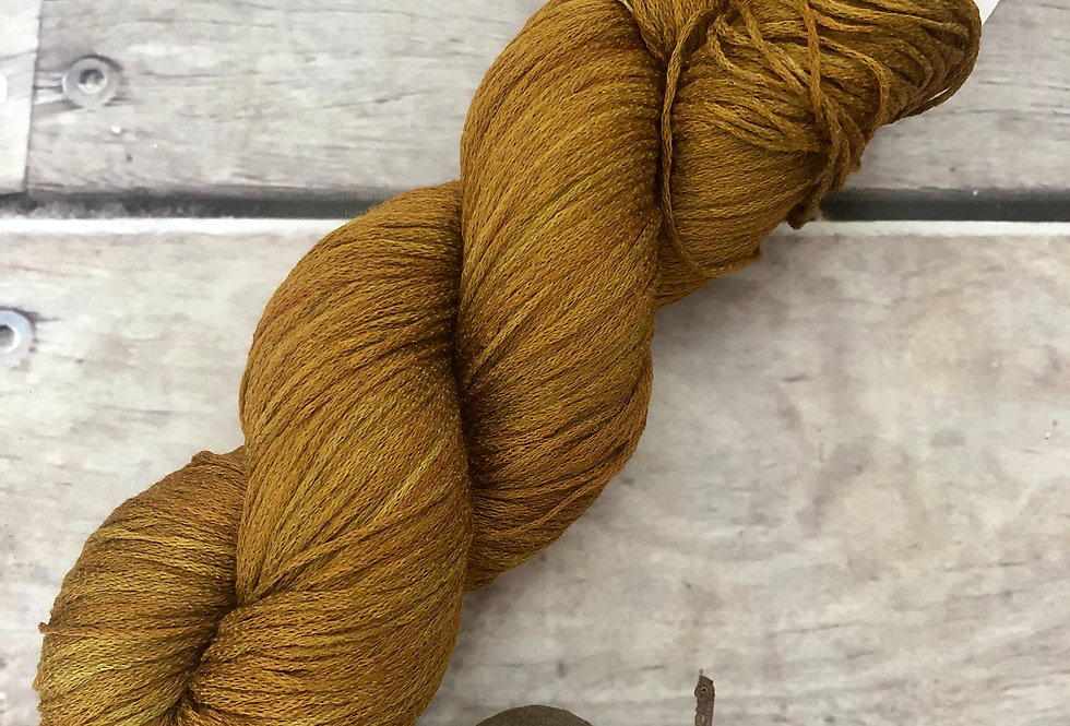 Ming Tile on Yecha - Tussah silk chainette - 4 ply f