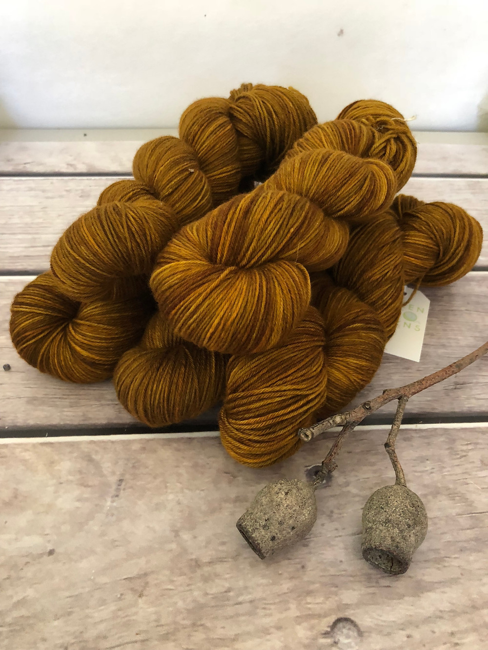The Golden Hind limited edtion colourway on Darjeeling sock yarn