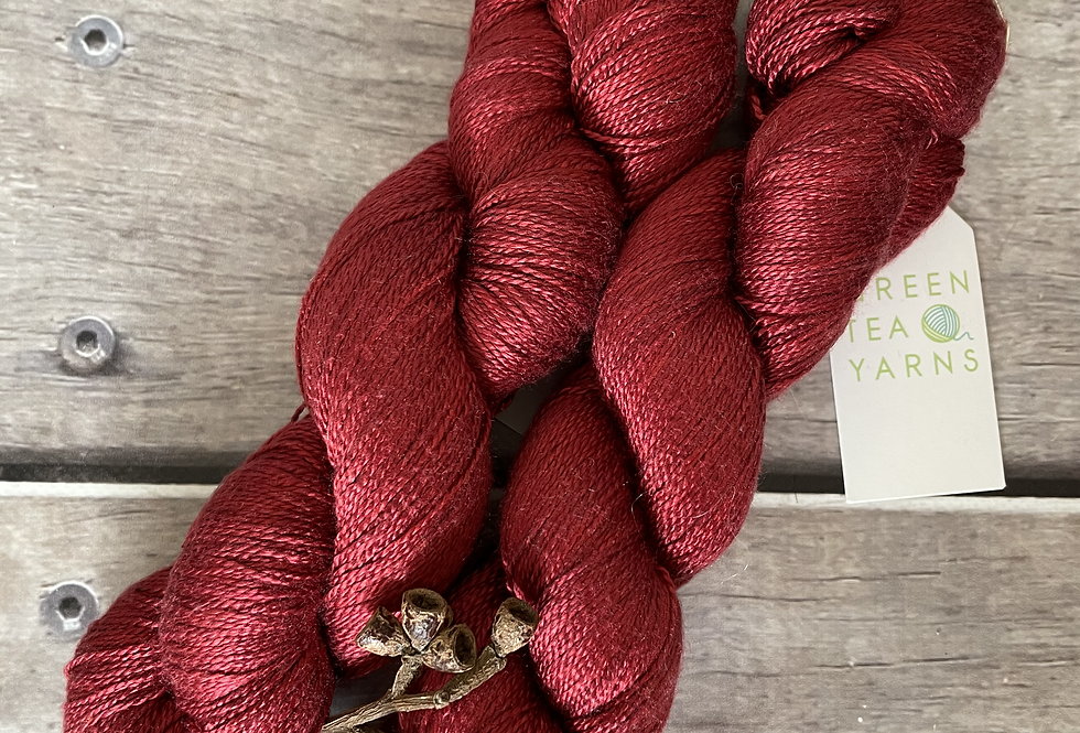 Red Lustre - 4 ply in pure Mulberry silk - Ginseng f