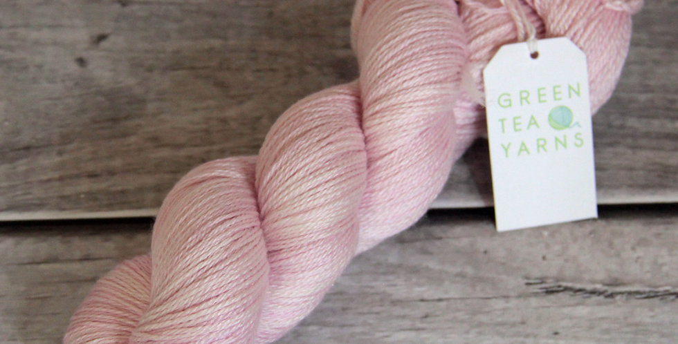 China Doll - 4 ply in Mulberry silk - White Cloud