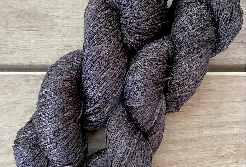 Mokume Gane on Yecha - Tussah silk chainette - 4 ply