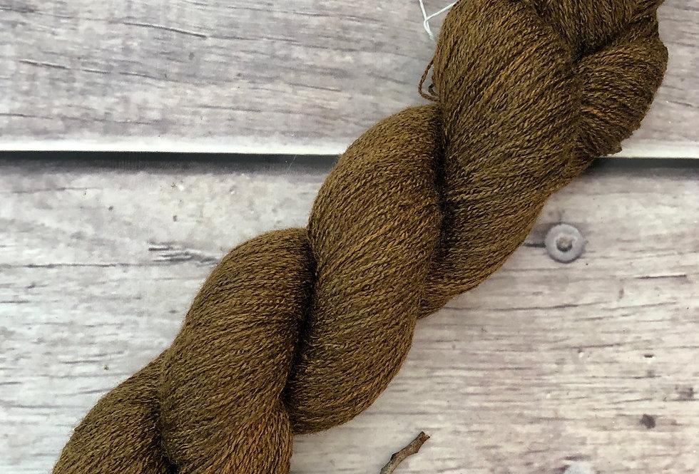 Bronze ooak - 1 Ply in Tussah Silk 50gms - Chai