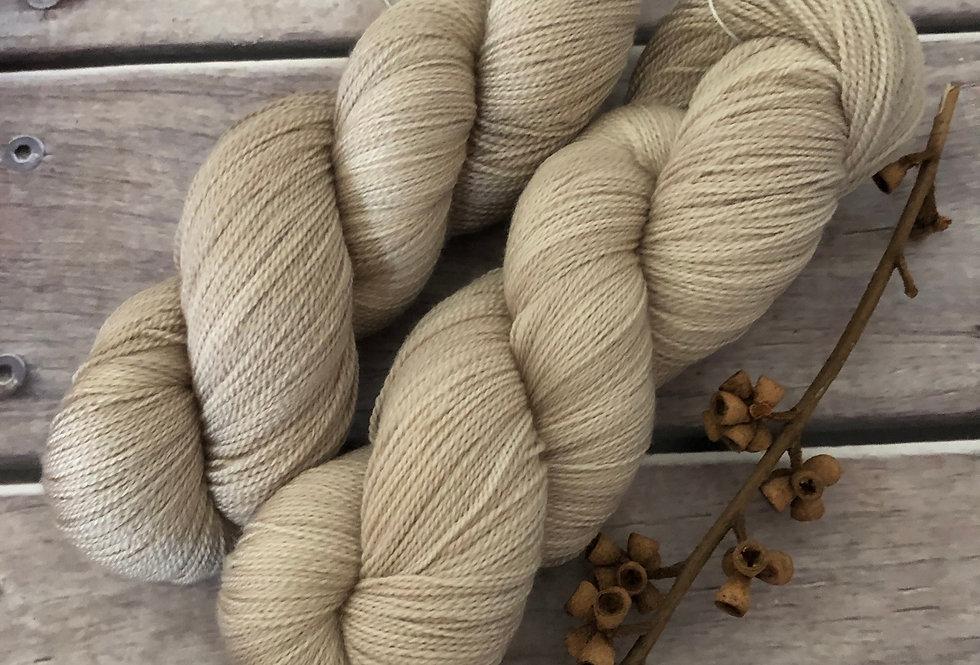 Wild Oats on Anji Bai - 2 ply Falklands wool and silk
