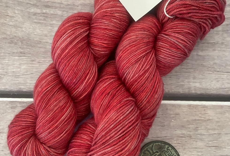 Ming Red - 4 ply sock yarn in merino & nylon
