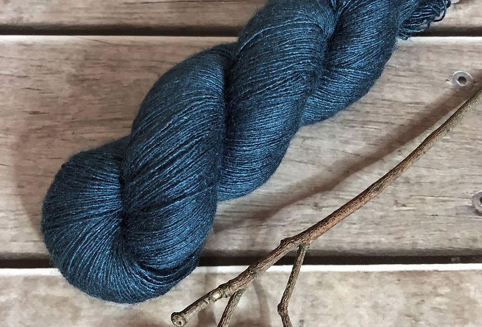 Kimono Blue - lace Tussah silk - Ujicha