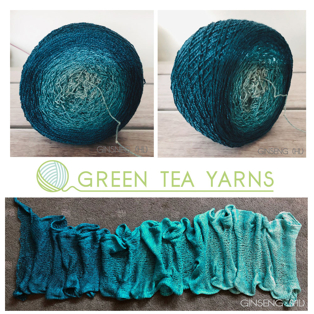 Ocean Diving Gradient on Ginseng heavy lace silk yarn base