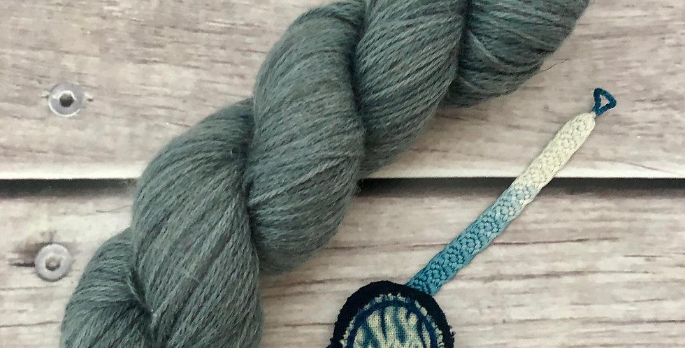 Mokume Gane, 4 ply fingering yarn with linen - Koshary