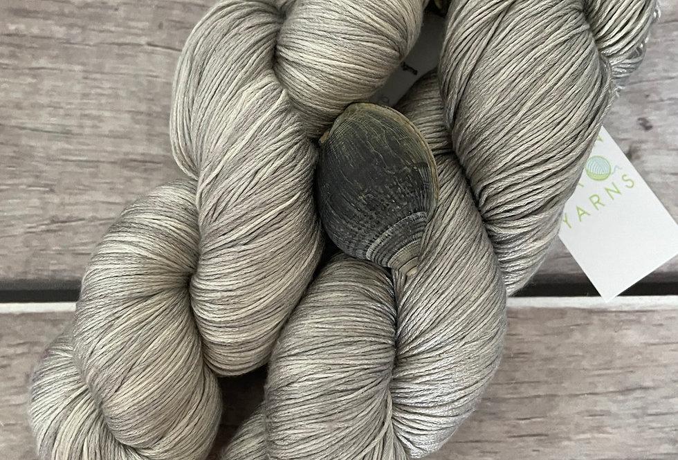 Silver Cloud - lace Mulberry silk - Rainflower