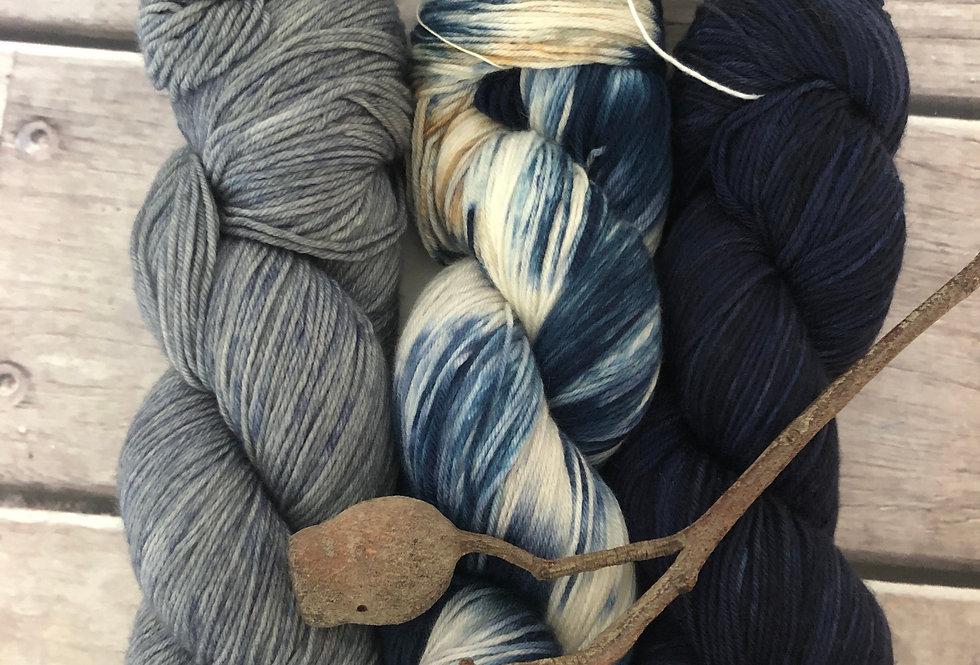 Overboard - 4ply sock yarn set in merino and nylon - Darjeeli