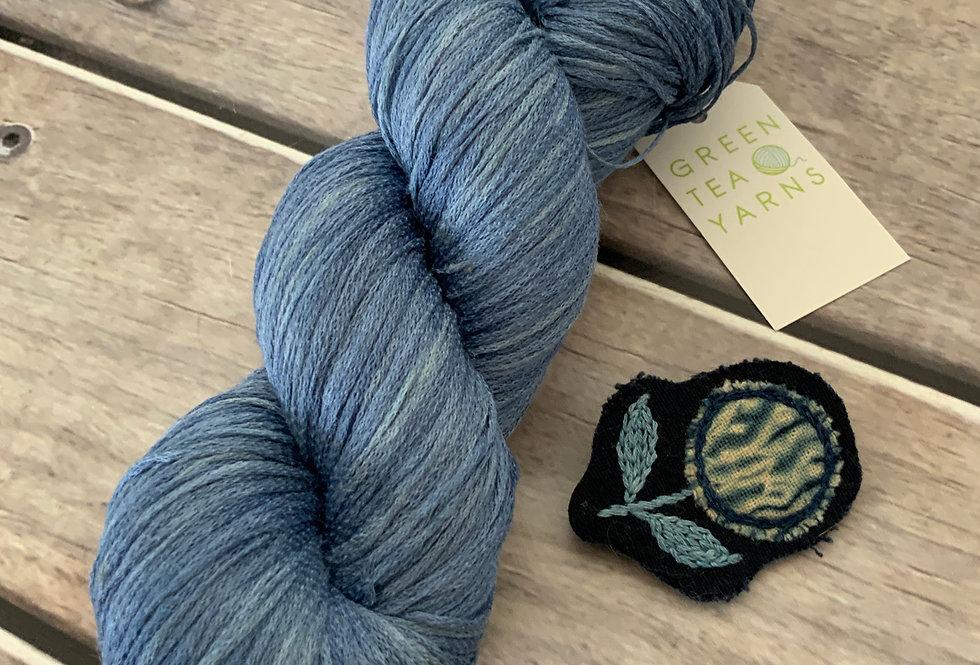 Light Sapphire on Yecha - Tussah silk chainette - 4 ply