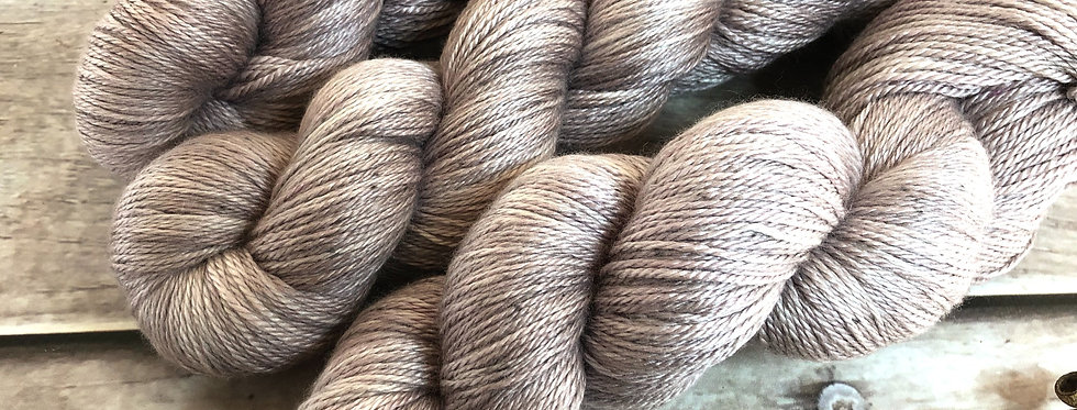 Dawn's Light ooak - 4 ply silk and merino - White Cloud