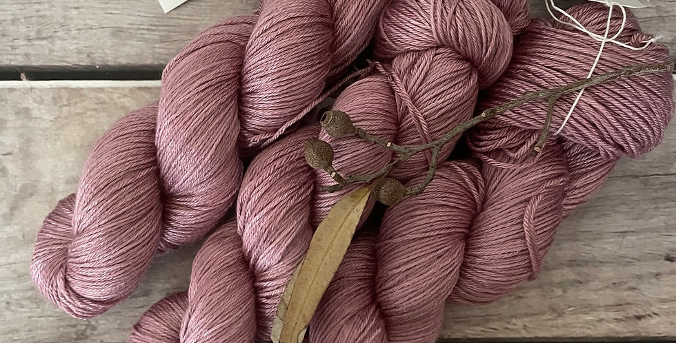 Tea Rose - 4 ply in Mulberry silk and BFL