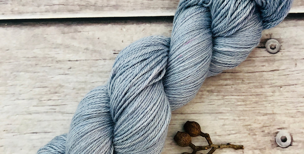 Summer Skies - 4 ply silk and merino - White Cloud