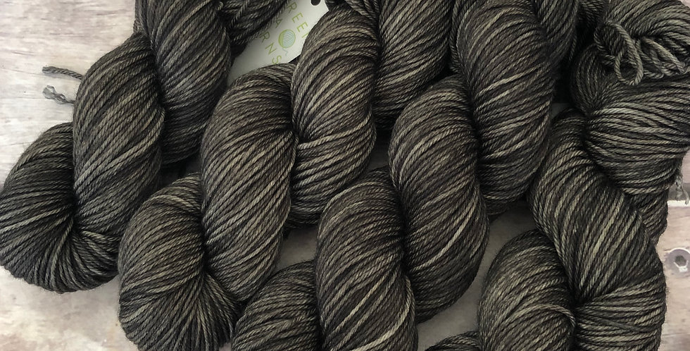 Fallen Ashes - on 8 ply merino and nylon sock yarn - Mangosteen 8