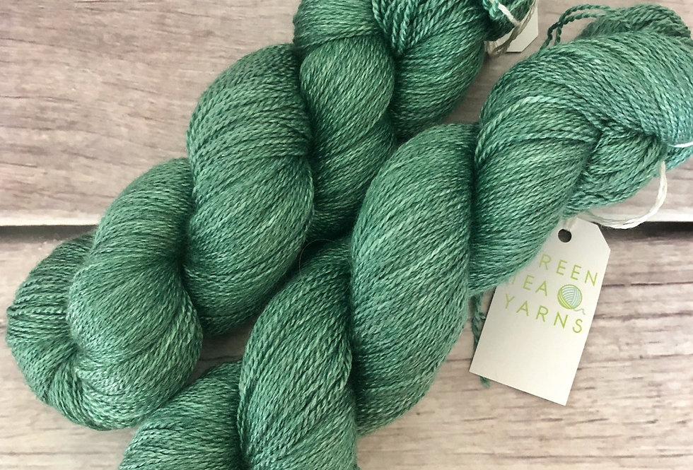 Emerald Bay - 3 ply in Mulberry silk and BFL