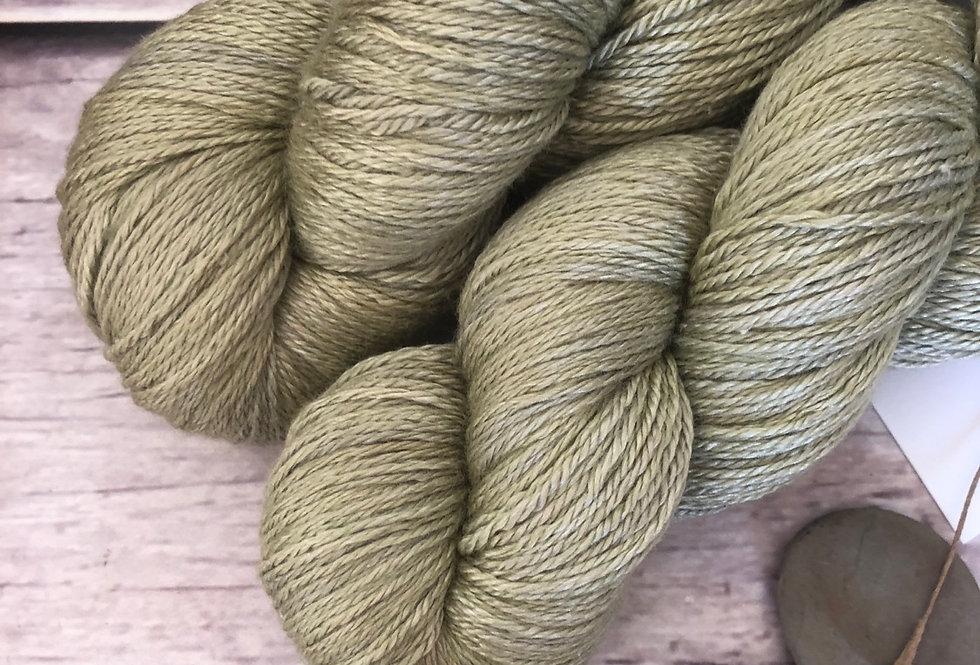 Native Sage - 4 ply silk and merino - White Cloud