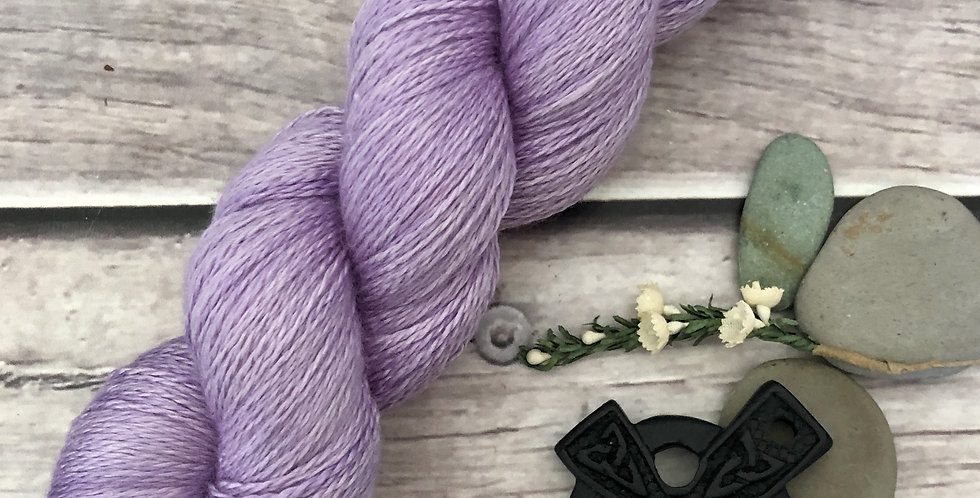 Summer Lilacs - 3 ply silk and merino - White Cloud