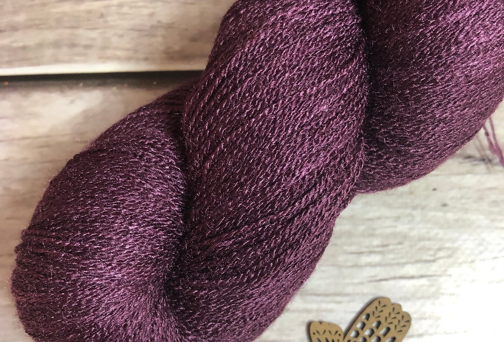 Black Cherry - 1 Ply in Tussah Silk