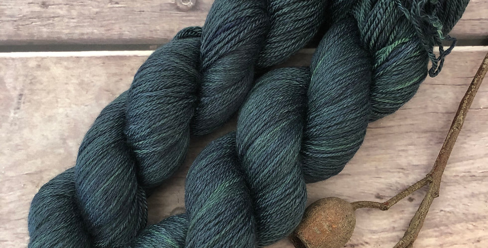 The Watchman - 4 ply silk and merino - White Cloud