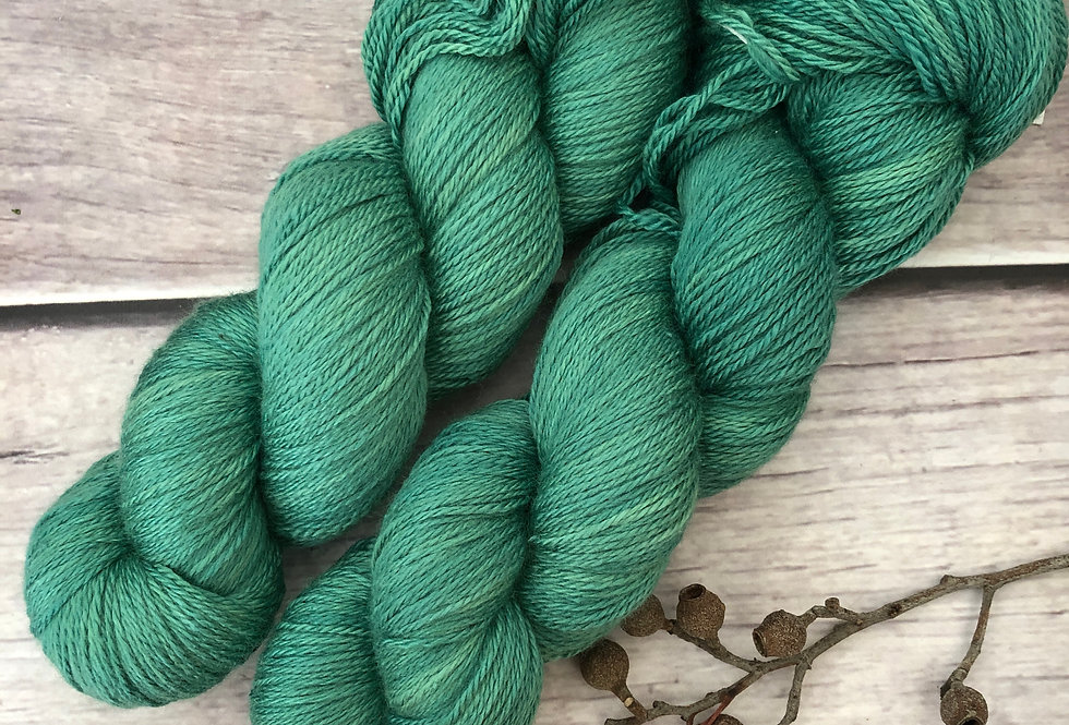 Emerald Bay - 4 ply silk and merino - White Cloud