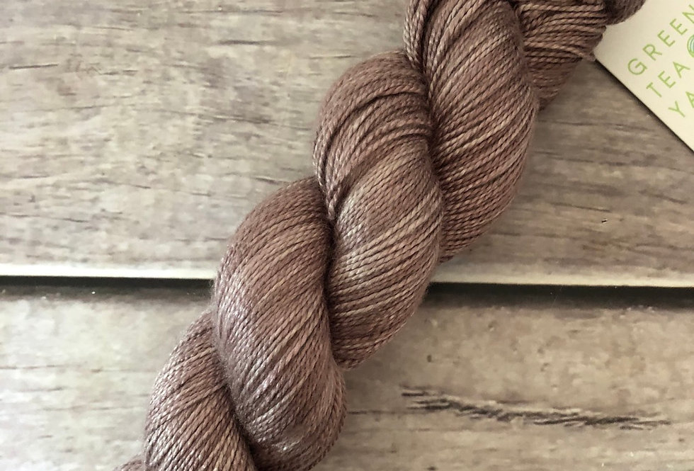 Dawn's Light - 3 ply in Mulberry silk - Ginseng hl
