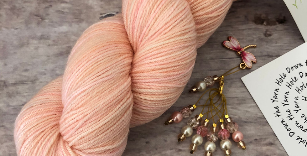 Seashells and Dragonflies - Down the Yarn Hole Stitch Markers