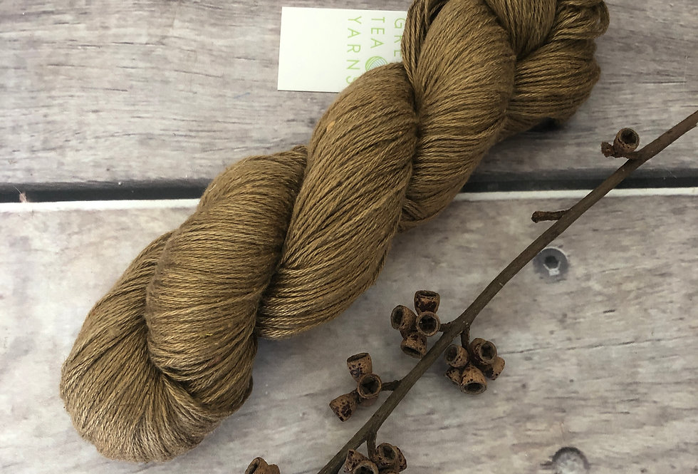 Gumnuts on Linden - 4 ply silk and linen yarn