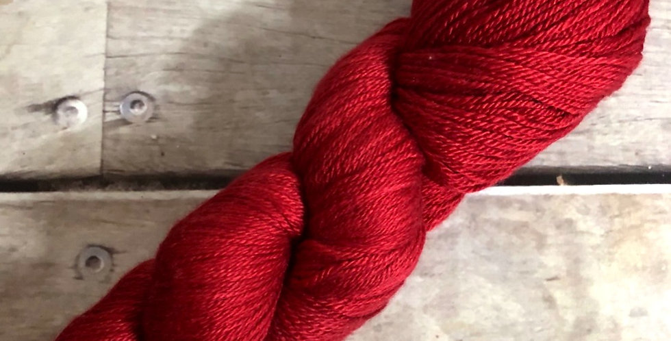 Lacquer Red - 4 ply silk and merino - White Cloud