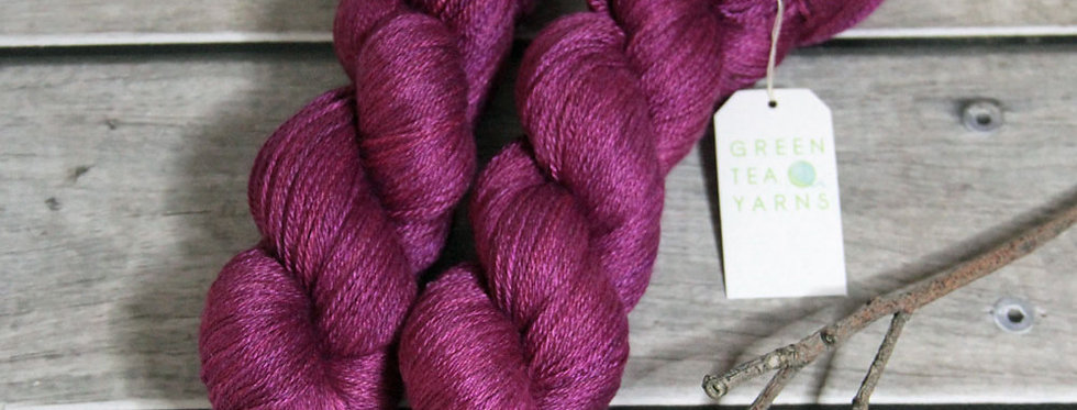 Bush Berries - 4 ply in Mulberry silk - White Cloud