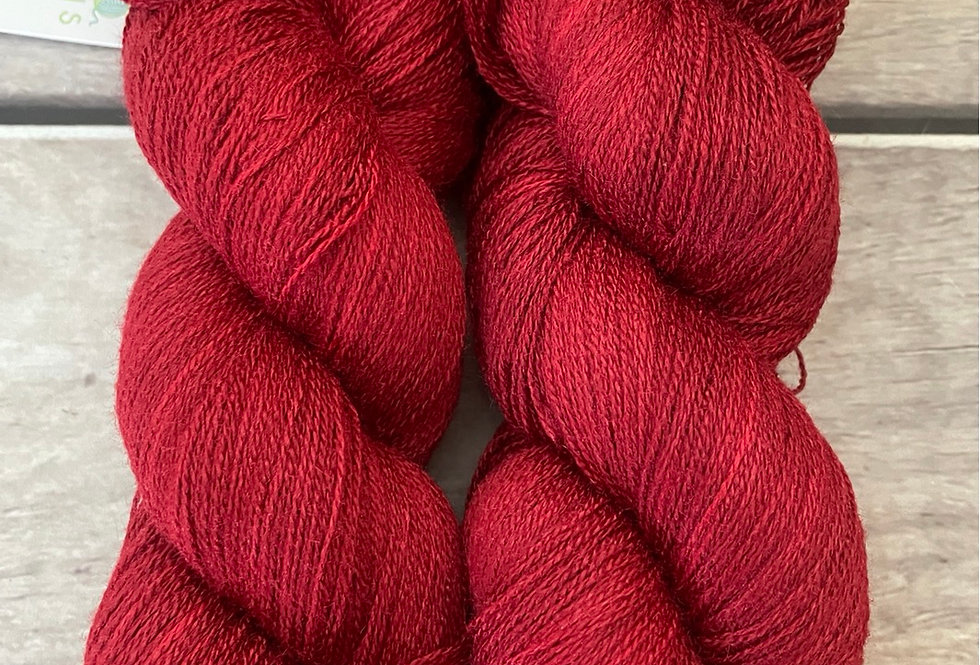Dark Red Lacquer - 1 Ply in Tussah Silk 50gms - Chai