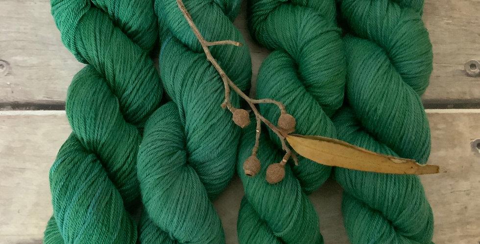 Jade River ooak - 8 ply merino and nylon sock yarn - Mangosteen 8