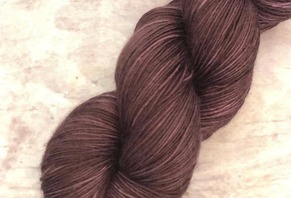 Royal Aubergine - 4 ply mulberry silk single -Rougui
