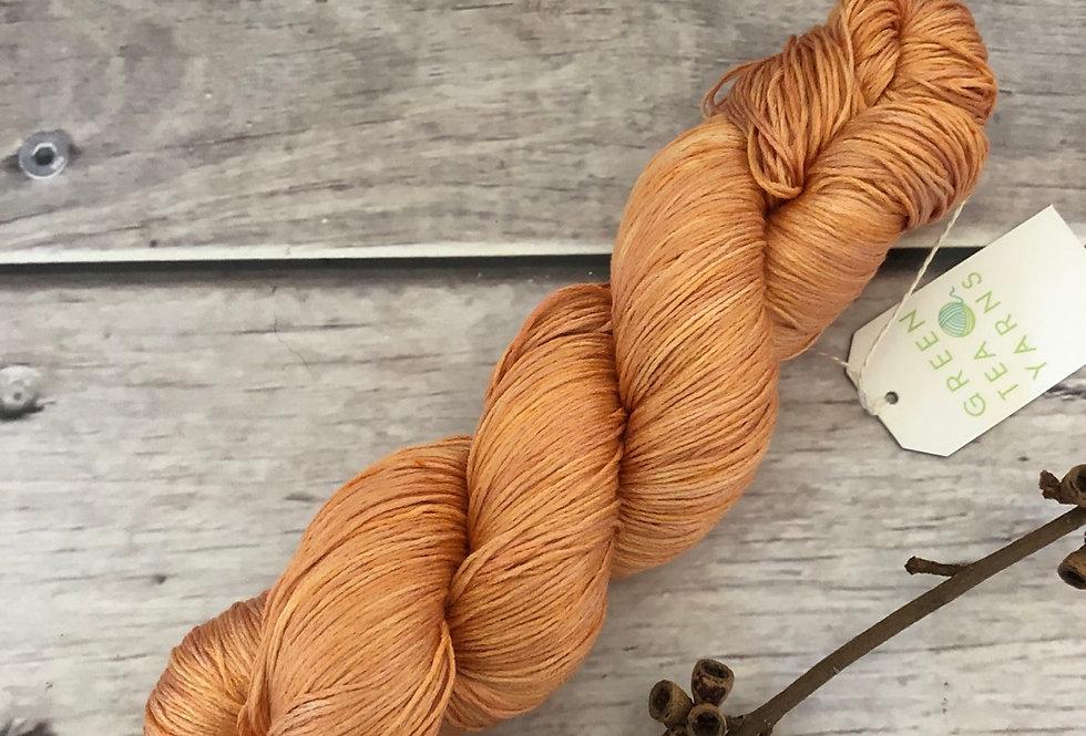 Golden Amber - 100% mulberry silk - Rainflower l