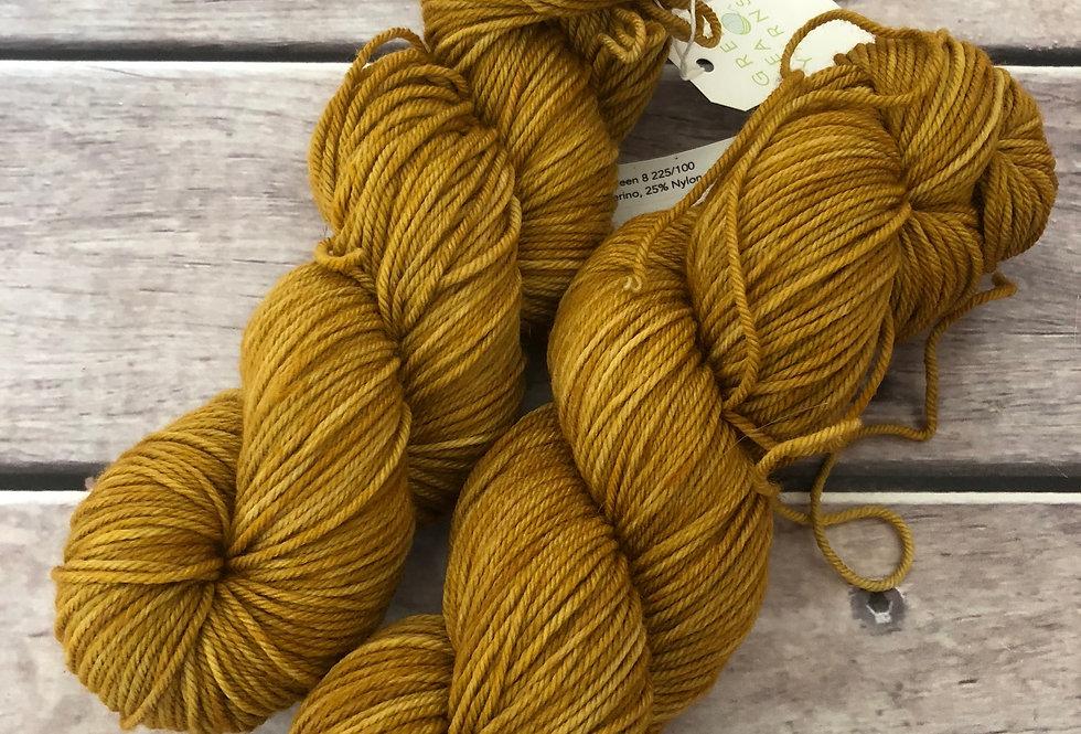 Ming Tile - on 8 ply merino and nylon sock yarn