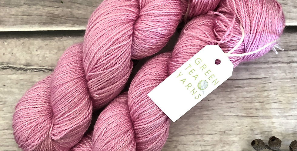 Rosedale Pink OOAK - 3 ply in Mulberry silk and BFL