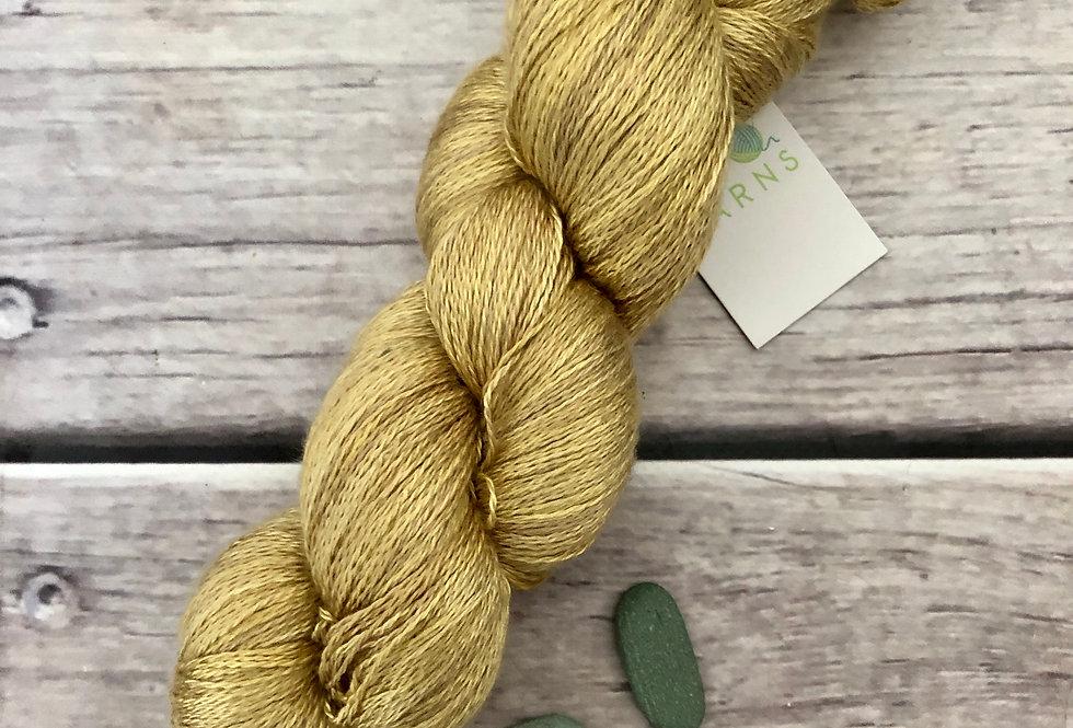 English Mustard ooak - 2 ply in Mulberry silk - Pekoe (l)