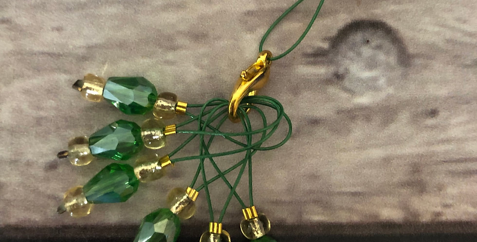 Set of 6 - Down the Yarn Hole Stitch Markers