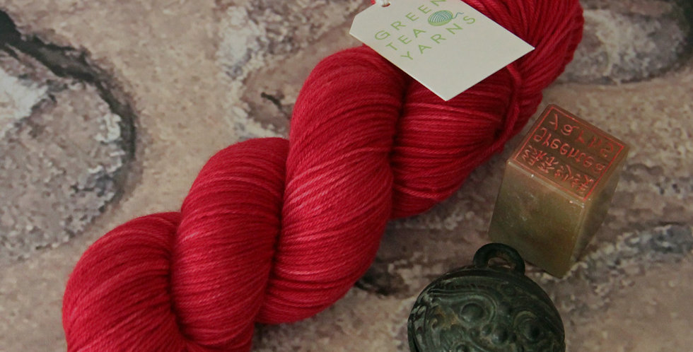 Lacquer Red - 4 ply sock yarn in merino & nylon