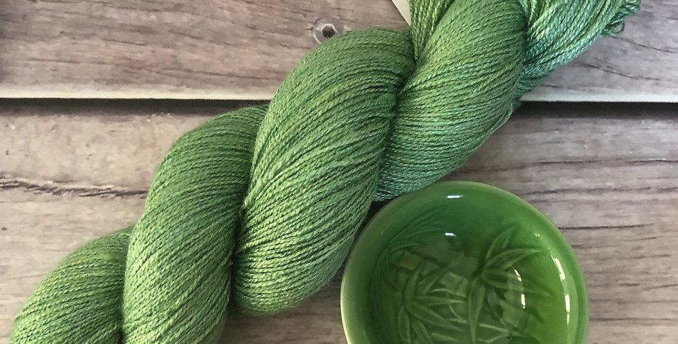 Matcha Green - 3 ply Tussah Silk  - GongFu