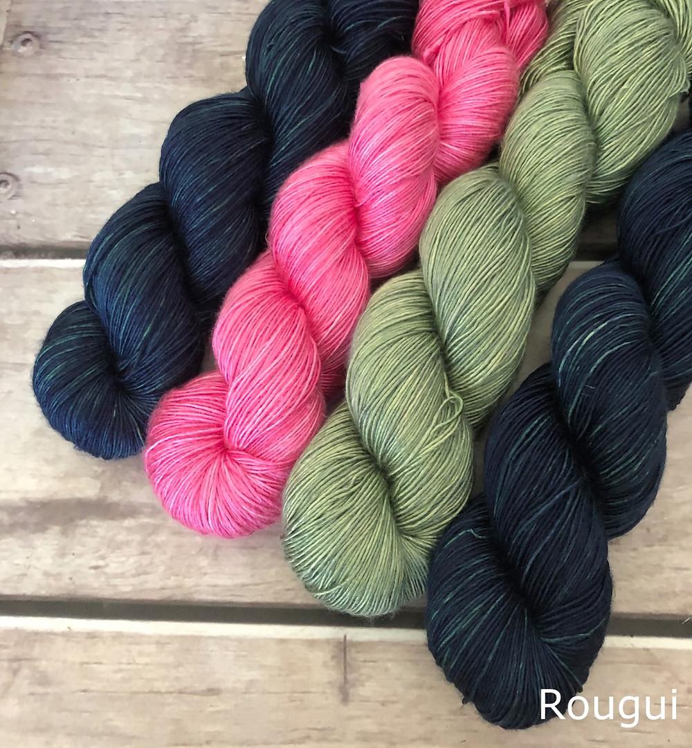 A selection of beautiful Rougui single yarn