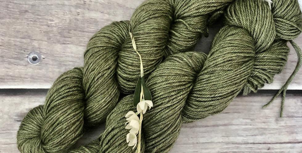 Native Sage-  8 ply merino/silk/yak - Masala 8
