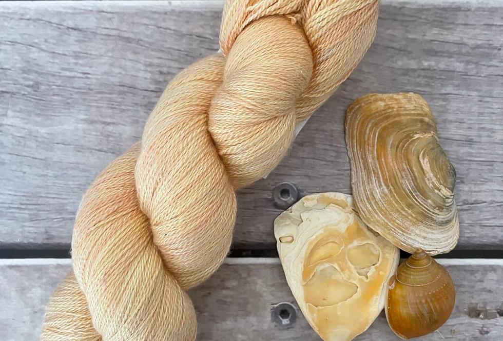Apricot Butter - 2 ply Silk and Merino - Sencha