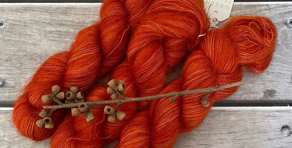 Tamarind Sunset on ShuiYun - 2 ply lace in Mohair and silk