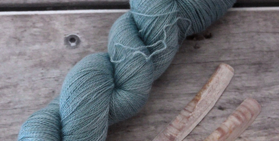 Sea Breeze ooak - 2 Ply in silk and alpaca - Echinacea
