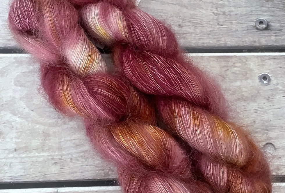 MIng Rose on ShuiYun - 2 ply lace in Mohair and silk