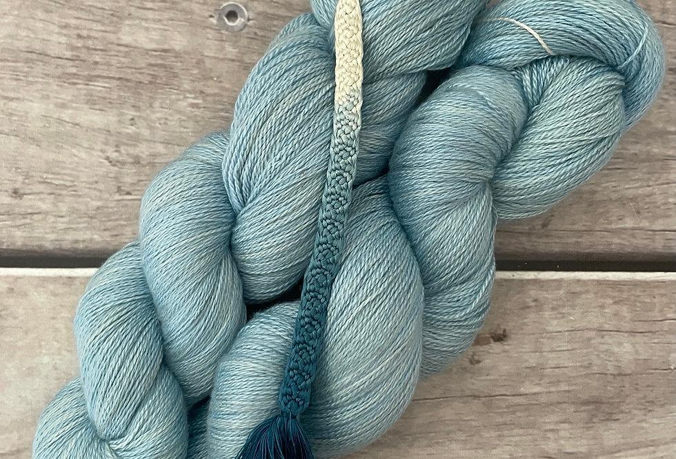 Moon Blue - 2 ply in Silk and Merino - Sencha