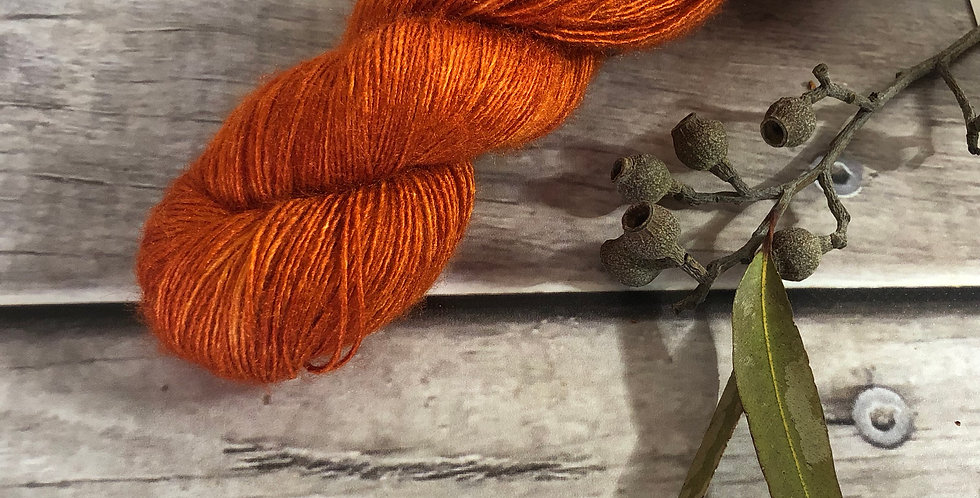 Tamarind Sunset semi - lace Tussah silk - Ujicha