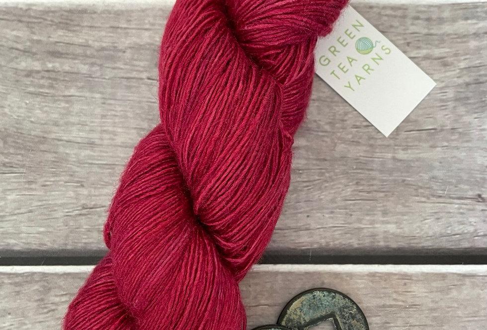 Lacquer Red - 4 ply Tussah silk singles - Sulkazura